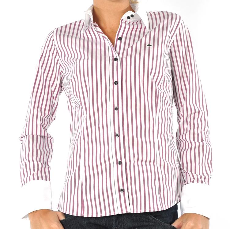 9e0c0ee5880 Hellás Fashion Store. .Lacoste Camisas feminino Camisa Listrada ...