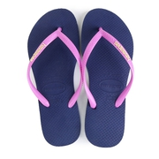 Havaianas Slim Logo Pop Up Blue